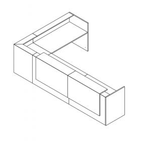 Z2 hoekbalie 90 graden met 2 opzetelementen compleet